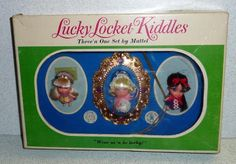 Mattel 1966 Liddle Kiddles LUCKY LOCKET KIDDLES THREE 'N ONE GIFTSET #3380 *MIB