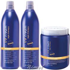 Pro-Blonde Kit Max 2 x Shampoo + 1 x Conditioner Ice Cream Age Therapy Inebrya ®