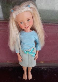Now THIS is a pretty, friendly doll I would have in a dollhouse. Ooak Blonde Barbie Doll Make Under by Taylor by SirensandSeaweed