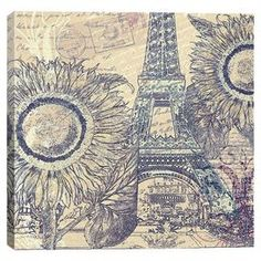 With a mix of florals and a Parisian postale motif, this canvas print brings a bit of the City of Light to any room.   Product: Canvas artConstruction Material: Wood and cotton canvasFeatures:  Reproduction of original art by Mindy SommersUltrachrome and anti-fade inksNorth American anti-shrink pinewood bars  Cleaning and Care: Dust gently with a soft dust brush, or use a statically charged cleaning cloth or a light feather duster. If dust build up is heavy, then you can carefully use a…