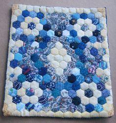 Dolls house miniature patchwork quilt - via Etsy.