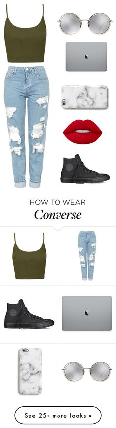 """Untitled #89"" by blueocean09 on Polyvore featuring Topshop, Linda Farrow, Harper & Blake, Lime Crime and Converse"