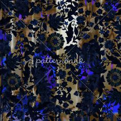 Indigo Ethnic Flower Grid by Wiebke Hoffmann