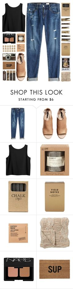 """SCRABBLE // top set 28.03 yaayyy"" by emmas-fashion-diary ❤ liked on Polyvore featuring AG Adriano Goldschmied, H&M, Monki, Hasbro, Le Labo, Jayson Home, Laundry, Comodynes, Bloomingville and NARS Cosmetics"