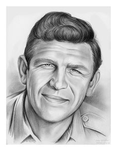 Andy Griffith pencil sketch by www.gregjoens.com