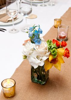 A table fit for a Mexican beach wedding http://amwstudios.com