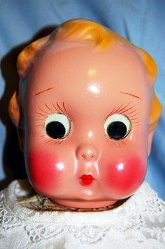 Adorable Vintage Composition Googly Eyed Doll | eBay