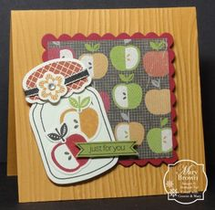 Would look cute if the paper was muted with a velum sheet over it. Cute idea for a fall card