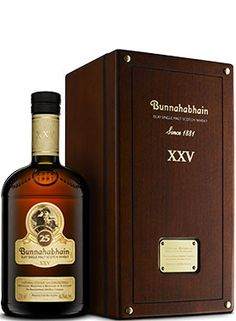 """Bunnahabhain 25 Year Old Single Malt #Scotch Whisky. Aged for 25 years, this #whisky was named the """"Best Islay Single Malt"""" at the World Whiskies Awards in 2014. 