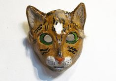 Paper Mache Cat Mask / Jevgeniamasks