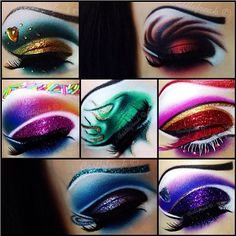 Simply genius! Castlefreak used her #Sugarpill eyeshadows to create looks based on the 7 Deadly Sins: Greed, Wrath, Gluttony, Envy, Lust, Sloth and Pride.
