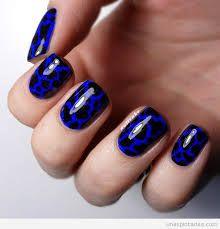Resultado de imagen para uñas azules decoradas