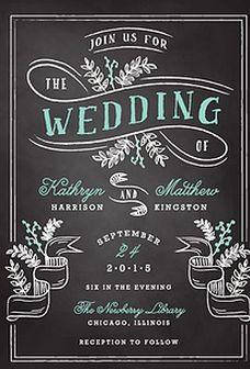 Gorgeous invitation design.