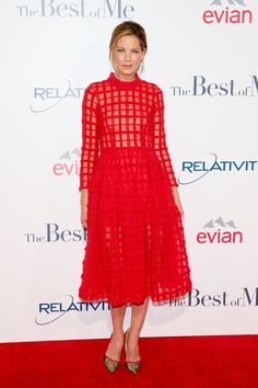 """Michelle Monaghan in Simone Rocha at the premiere of Relativity Studios's """"The Best Of Me."""" Photo: Mark Davis/Getty Images"""