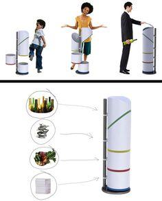 recycling garbage dump-trashcan