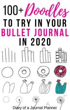 The ultimate list of step-by-step guides to the doodles you HAVE to include in your 2020 bullet journal! Doodle For Beginners, Bullet Journal For Beginners, Bullet Journal Hacks, Bullet Journal How To Start A, Bullet Journal Notebook, Bullet Journal Layout, Bullet Journal Ideas Pages, Bullet Journal Inspiration, Bullet Journals
