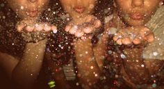 i love the way blowing glitter looks in photography