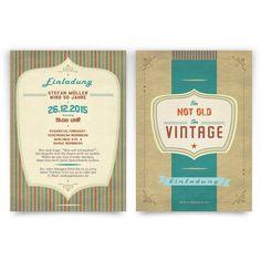 Einladungskarte als Eintrittskarte Grunge Vintage