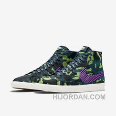 pretty nice e8217 ae587 NIKE BLAZER MID JACQUARD 2017 Spring New 807382-200 Women Black Purple For  Sale 3TdePc, Price   88.27 - Air Jordan Shoes, Michael Jordan Shoes