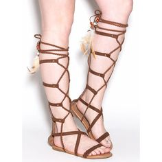 All women want to wear gladiator sandals because they look beautiful and fashionable. In addition to that, gladiator sandals help to make their hip and leg Tan Strappy Sandals, Beaded Sandals, Strap Sandals, Gladiator Sandals, Shoes Sandals, Roman Sandals, Greek Sandals, Open Toe Shoes, Open Toe Sandals