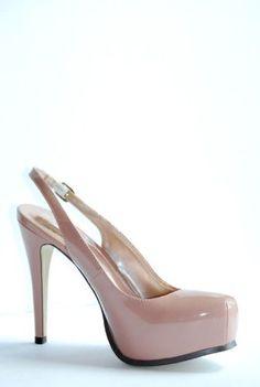 b50924a28b15 Katrina Women  Platform  Stiletto Strap Patent Pump Heel Shoes  Sale    21.90.