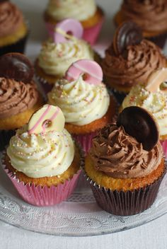 Party Ring and Jaffa Cake Cupcakes - Afternoon Crumbs