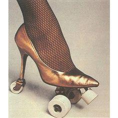 Roller Skates - vintage roller skate - Heels - disco diva rockin rebel roller girl