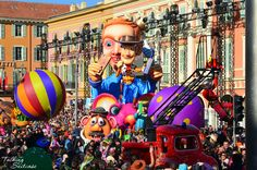 One of the winter highlights along the French Riviera is the Nice Carnival Parade. Each year, a million visitors enjoy the fun, sea, sunshine and food. Carnival Festival, Toy Story, Mardi Gras, Nice, Festivals, Pictures, Carnival, Photos, Drawings
