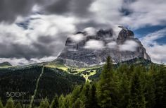 Sassolungo Val Gardena Dolomites by EuropeTrotter  sky landscape mountains clouds italy mountain italia long exposure alps dolomites paysage dolomiti s