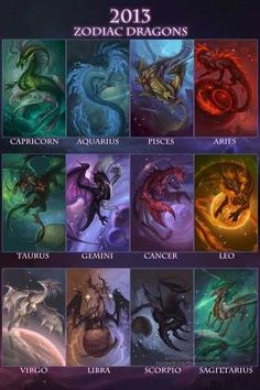 2013 Zodiac Dragons Poster