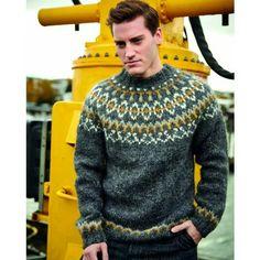 Ravelry: Hvammur pattern by Rebekka Kristjánsdóttir Simply Knitting, How To Start Knitting, Christmas Knitting Patterns, Sweater Knitting Patterns, Circular Knitting Needles, Arm Knitting, Icelandic Sweaters, Knit Edge, Lang Yarns