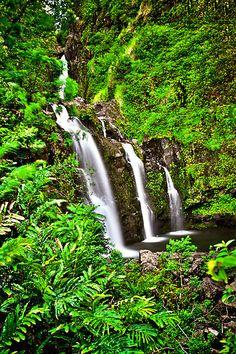 Road to Hana Waterfalls by Jessica Veltri