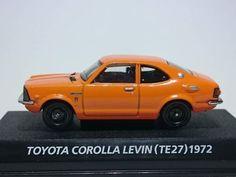Out of print - Konami 1/64 Toyota Corolla Levin TE27 - famous car collection #Konami #Toyota