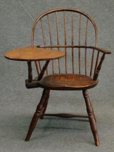 circa 1800 Writing Arm Bow-Back Windsor Chair...~♥~