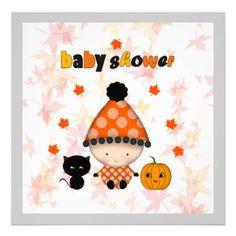 143 best halloween baby shower invitations images on pinterest october halloween autumn baby shower invitation filmwisefo