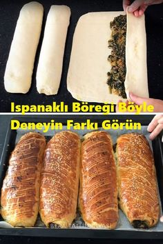 Try the Spinach Pastry Like This See The Difference - . Paleo Recipes, Snack Recipes, Comfort Food, Turkish Recipes, Popular Recipes, Hot Dog Buns, Spinach, Food And Drink, Cooking