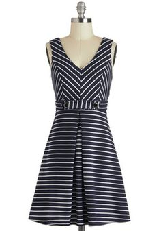 Marina Girls Dress, #ModCloth  $36.99 paire with white sweater, navy maryjanes or red heels, red lipstick