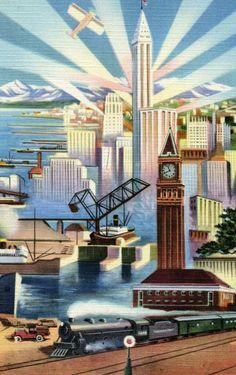 Art Deco Poster http://www.quadrinize.com/2011/04/generos-%E2%80%93-muito-combustivel-a-ficcao-cientifica-dieselpunk/