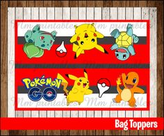 80% OFF SALE Pokemon Party Toppers instant by mrkitspartyshop