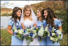 Erin Bates (Paine) wedding day with her sisters