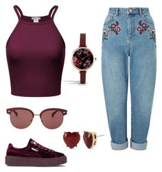 Untitled #14 by elisa-schembre on Polyvore featuring polyvore, fashion, style, Miss Selfridge, Puma, ASOS, Betsey Johnson, Oliver Peoples and clothing