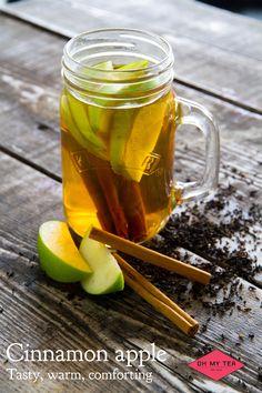 Cinnamon Apple, Onze persoonlijke favoriet en best verkopende tea! Verse Premium Assam tea, getrokken met appel en kaneel!