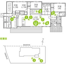 ROOM|老後まで快適に過ごせる住まいを見つけるメディア Japanese Modern House, House Layouts, Exterior Design, House Plans, Floor Plans, Mid Century, Flooring, How To Plan, The Originals