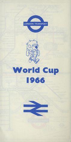 Pocket Underground map (World Cup edition), 1966