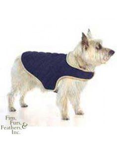 Dog Gone Smart Bed Co. Dog Gone Smart Quilt Jacket Small Navy   #pets #dog #fashion petstore.com