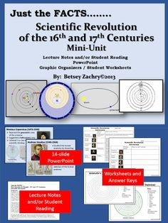 This is everything you need to teach the Scientific Revolution of the Sixteenth and Seventeenth centuries.  You can preview and download this product online at http://www.teacherspayteachers.com/Product/Scientific-Revolution-Mini-Unit-1109379