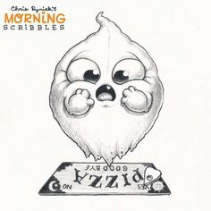 Cute art Chris Ryniak - morning scribbles - cute and funny art
