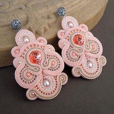 #pink #soutache #earrings