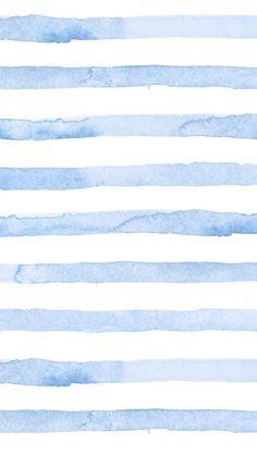 Blaue Aquarell-Streifen-Telefon-Tapete Seersucker-Sommer-Blau – Juna Rosenfeld … – Tapeten ideen - Gifts 4 You Cute Wallpaper For Phone, Iphone Background Wallpaper, Aesthetic Iphone Wallpaper, Aesthetic Wallpapers, Iphone Wallpaper Summer, Watercolor Background, Watercolor Wallpaper Iphone, Spring Wallpaper, Watercolor Red