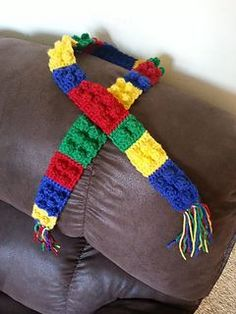 Make It: Lego Block Scarf - Free Pattern